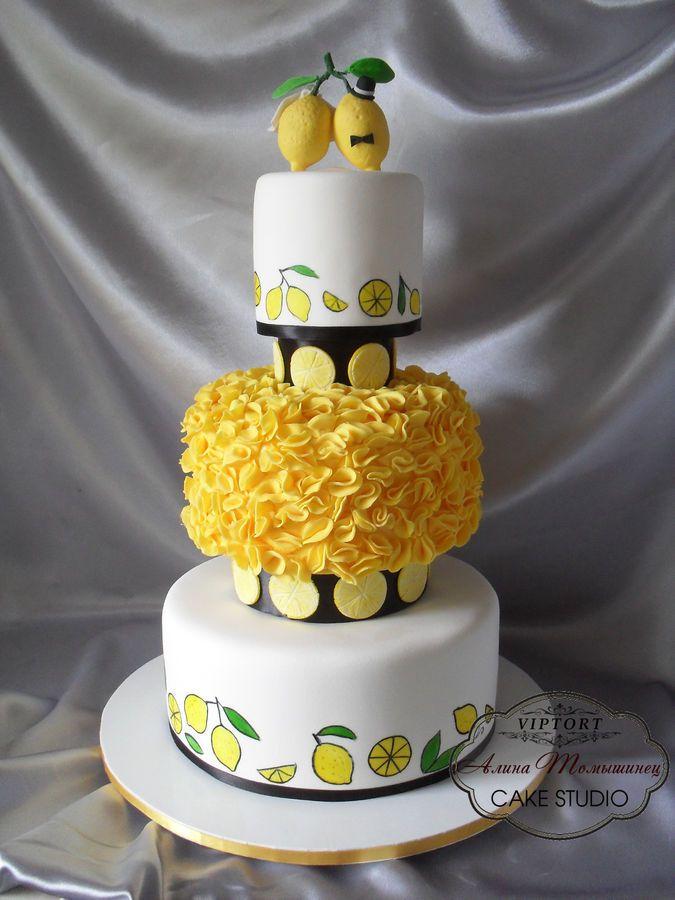 Торт с лимоном фото