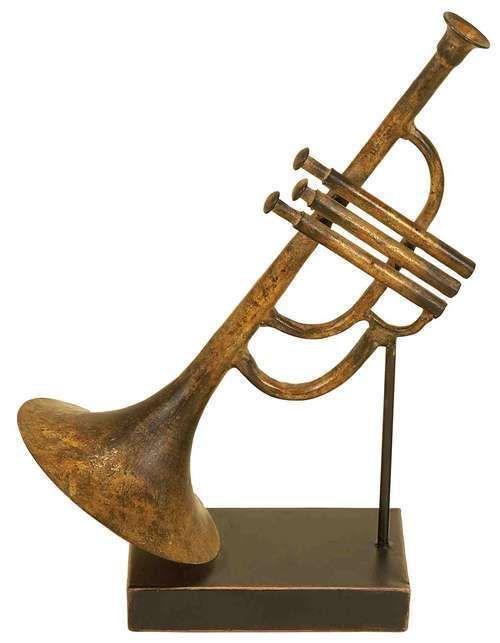 Jazz music decorations jazz music trumpet metal instrument