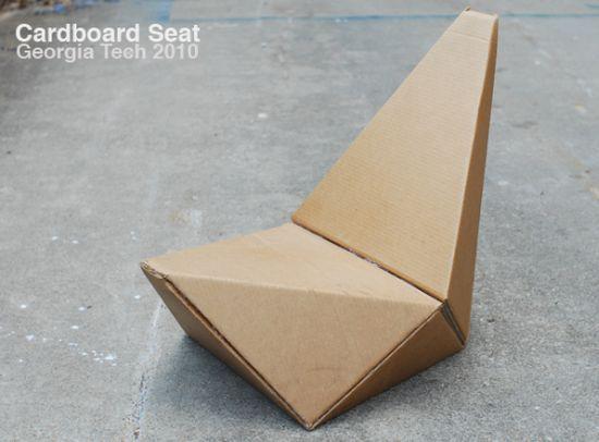 Cardboard Chair By Gourab Kar Eco Reused DIY Pinterest