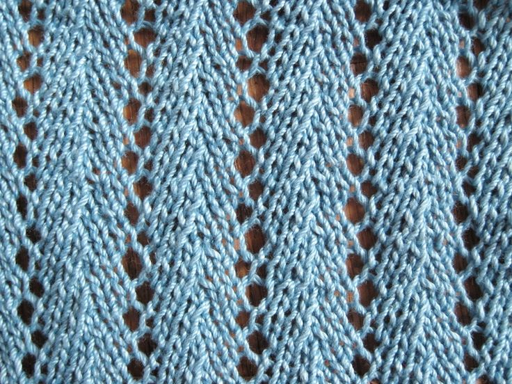 Knitting Pattern Lace Design : Chevron Lace Stitch Knitting Pattern