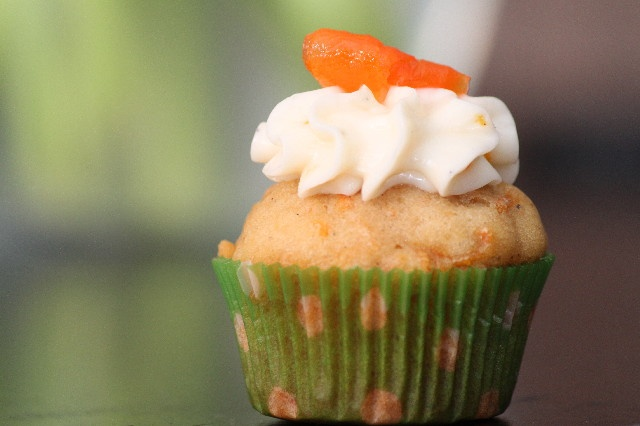 ... tiny carrot cake cupcakes loaded with cardamom, ginger and orange