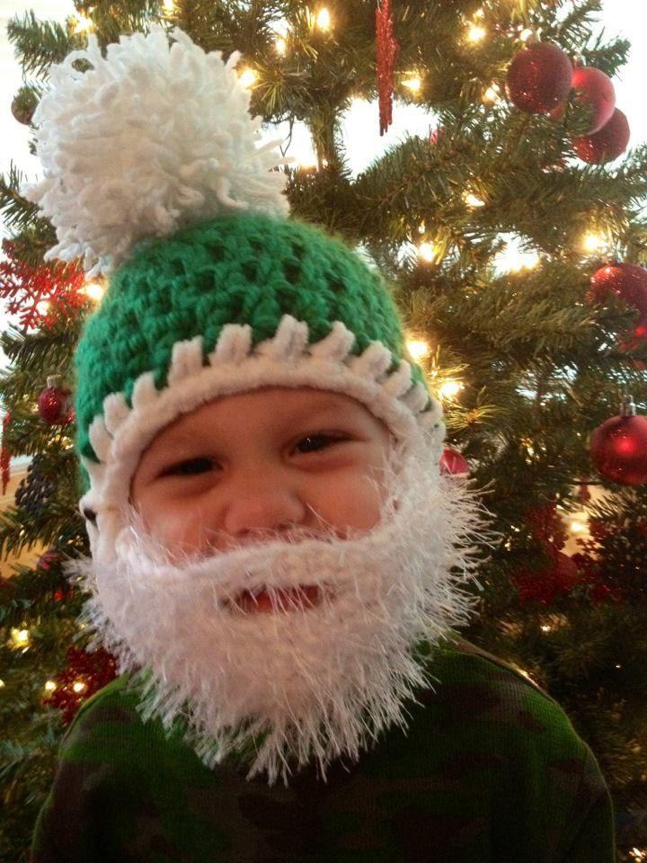 Crochet Pattern For Baby Hat With Beard : baby beard Crochet hats Pinterest