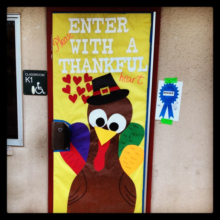 Thanksgiving Door Decoration Ideas Classroom : Thanksgiving turkey classroom door