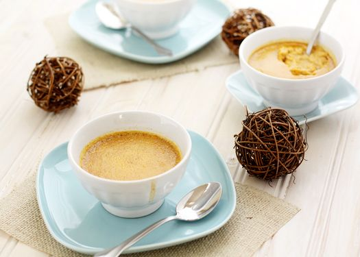 Pumpkin Custards with Ginger and Cinnamon http://www.goodlifeeats.com ...