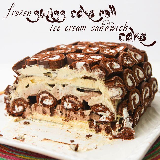 Ice Cream Sandwich Swiss Roll Cake