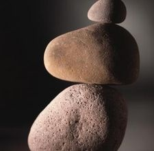 Trick to making a rock sculpture.