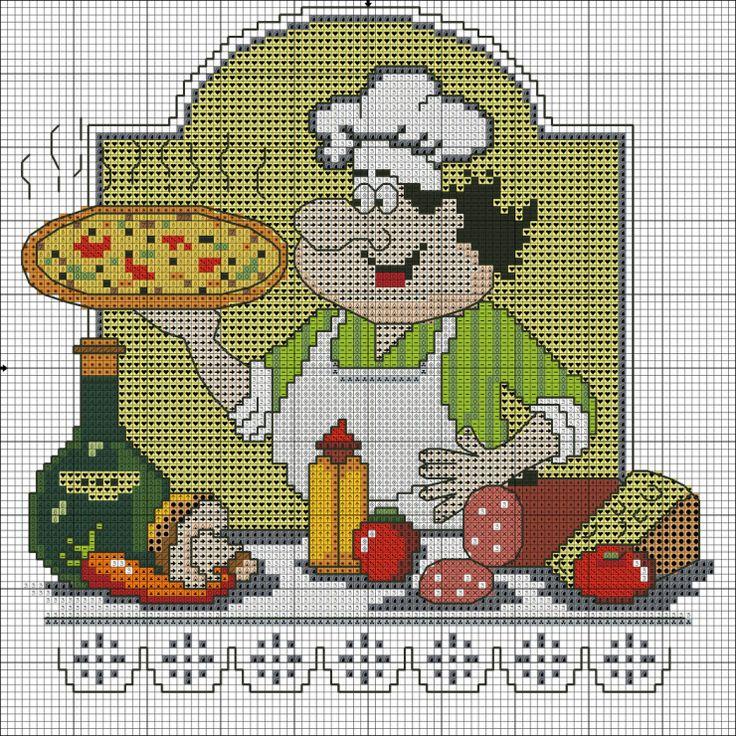 Веселый повар вышивка схема 32