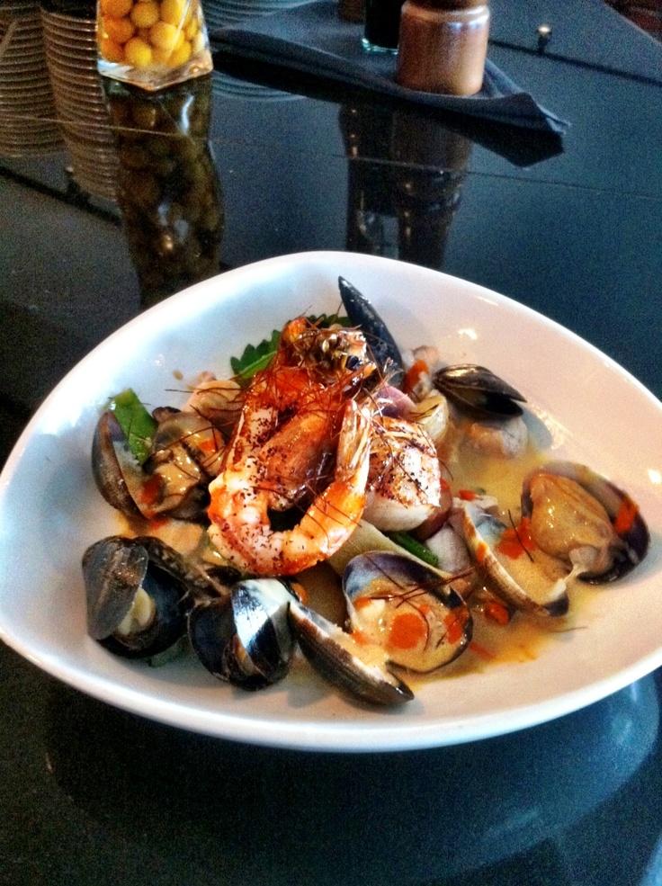 | Miso Lemongrass Chowder w/ shrimp, scallops, steamed Kona clams ...
