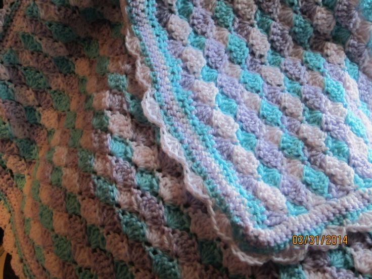 Crochet Ocean Wave : Ocean Waves Crochet Baby Afghan http://www.ravelry.com/patterns ...