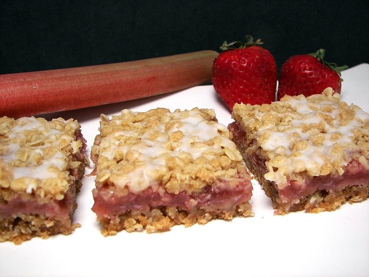 Strawberry Oat Bars Recipe — Dishmaps