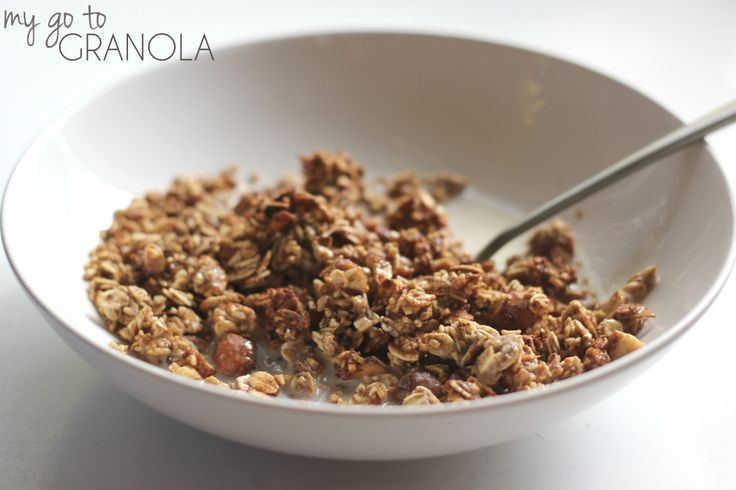 really simple applesauce granola. Tastes so good and easy to make!