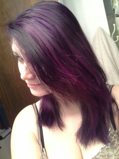 brown hair with purple highlights black and red ombre hair dark purple ...