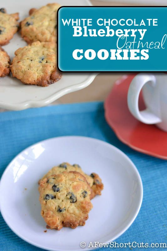White Chocolate Blueberry Oatmeal Cookies | Recipe