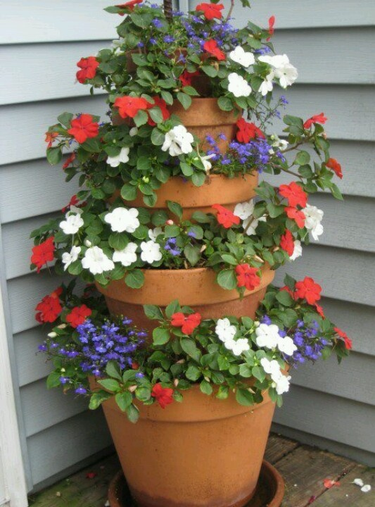 Stacking Planters For Height Container Gardening Pinterest