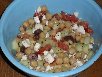 Greek Garbanzo Bean Salad | Salads | Pinterest