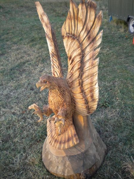 Eagle chainsaw carving carvings pinterest