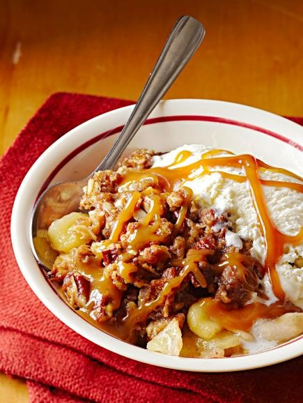 Nutty Caramel Apple Crisp...A double dose of caramel—baked in with ...