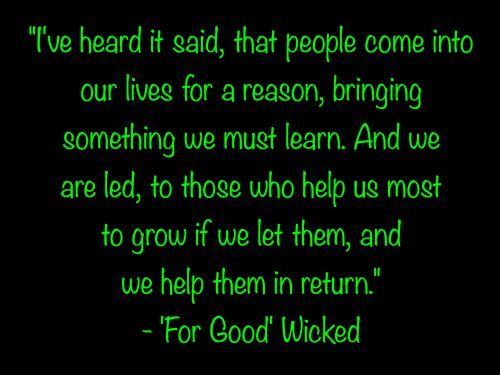 For Good from Wicked - Lyrics, Sheet Music, Stories about ...