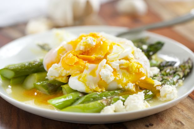 Roasted Asparagus with Lemon Feta Vinaigrette. A simple yet flavorful ...