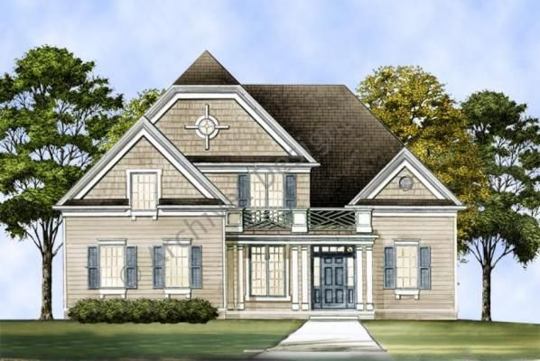 Vidalia house plan for Early new england home plans