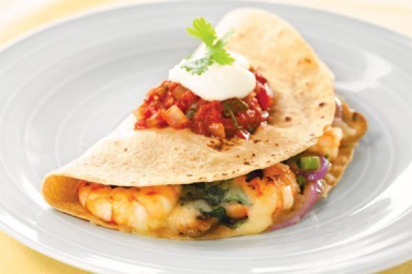 Shrimp Quesadilla | Men's Fitness | :) Healthy Recipes | Pinterest