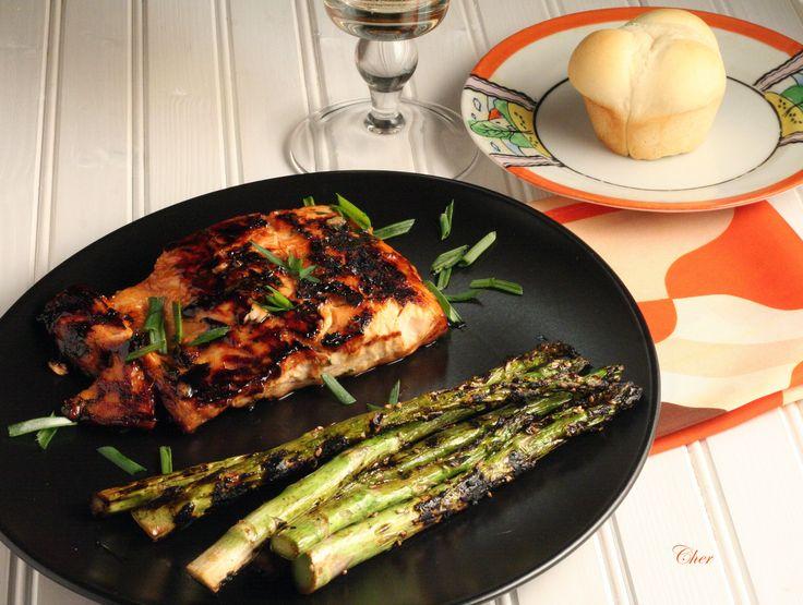 Honey-Ginger Grilled Salmon | Here fishy fishy fishy | Pinterest