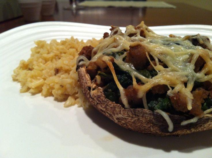 Southwestern Stuffed Portobello Mushrooms Recipe — Dishmaps