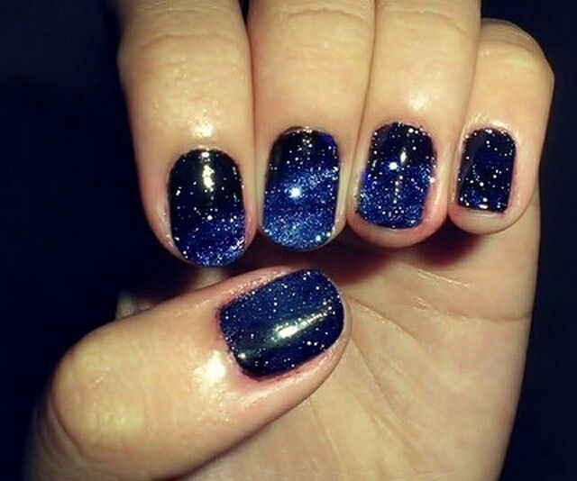 Cosmic nails makeup pinterest for Outer space nail design