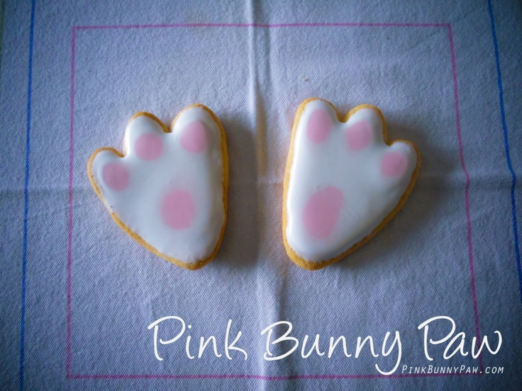 Pink Bunny Paw cookies