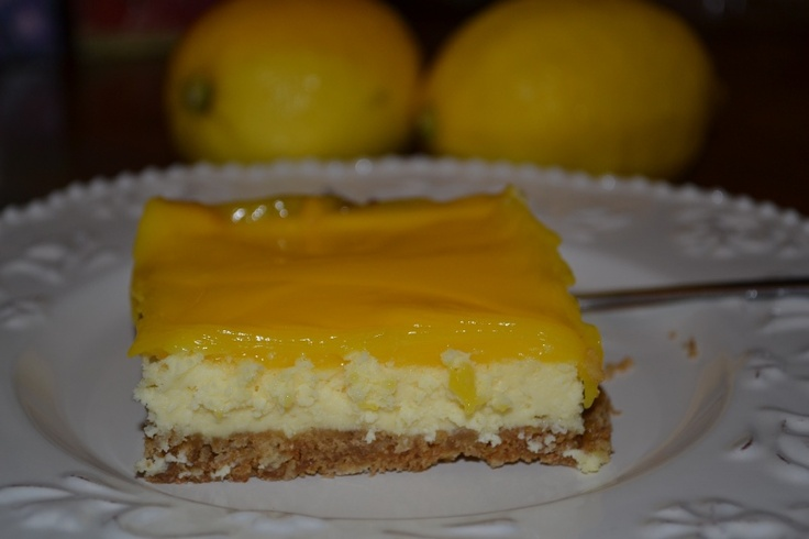 lemon cheesecake bars | Desserts | Pinterest