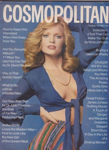 October 1973 cover with Kathy Davis