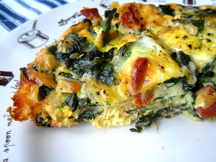 Spinach Frittata   Foods to try   Pinterest