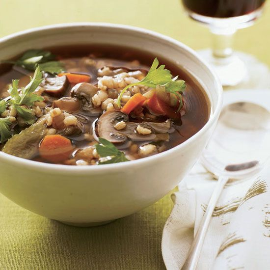 Mushroom-Barley Soup | Recipe