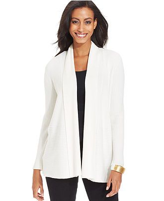 Long sleeve ribbed knit cardigan jm collection women macy s