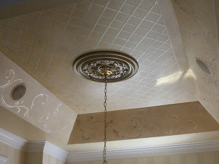 Matte And Gloss Paint On Tray Ceiling Ceilings Pinterest