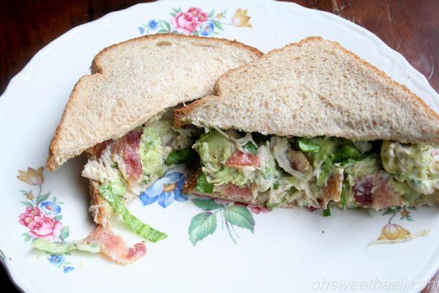 Tarragon Chicken Salad sandwich ♥ Oh Sweet Basil