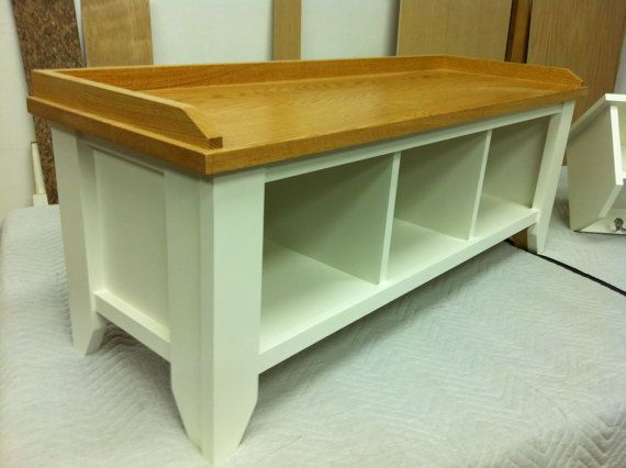 entryway bench and shelf solid wood handmade. Black Bedroom Furniture Sets. Home Design Ideas