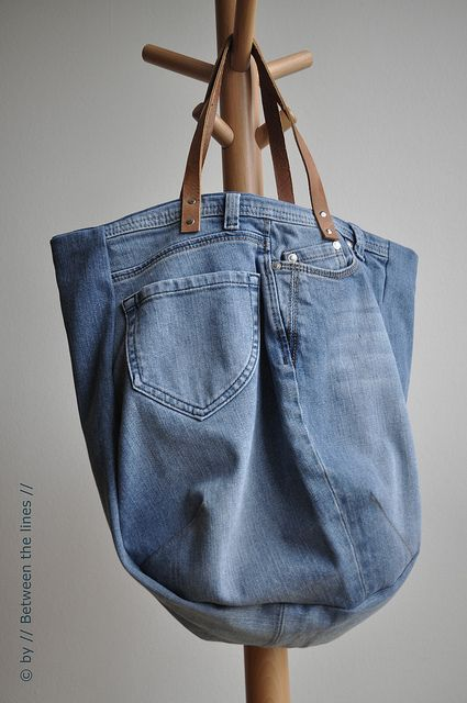 Bag made out of old pair of jeans handwerk idees pinterest for Old denim