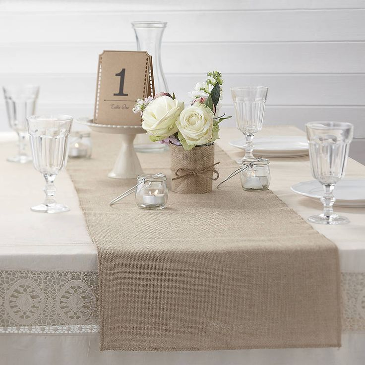 vintage / rustic hessian burlap table runner by ginger ray ...