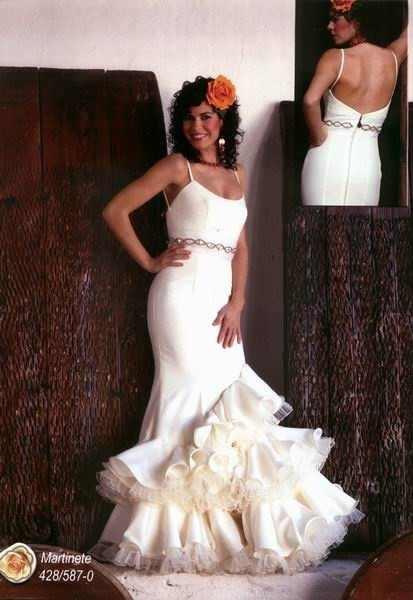 Flamenco wedding dress hopeless romantic pinterest for Flamenco style wedding dress