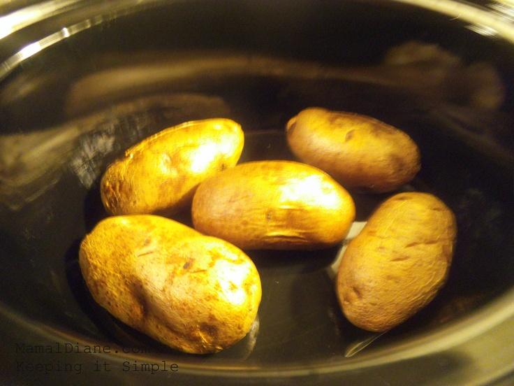 Slow cooker baked potatoes pinterest crafts