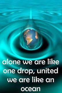"Alone we are like one drop, together we are an ocean | #Poverty #WeThePeOplE; ""Enjoy a Cappuccino while Saving Lives!"" Join The Movement!     @Pinterest.com/vipsaccess/we-the-people-pinterest-charity-fund-raise-campaig/"