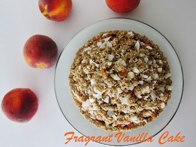 ... Cake: Cardamom Scented Peach Crumble Tart with Coconut Almond Crust