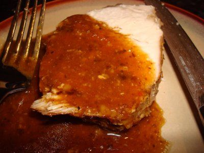 pork loin slowcooker style slow roasted pork with thick savory gravy ...