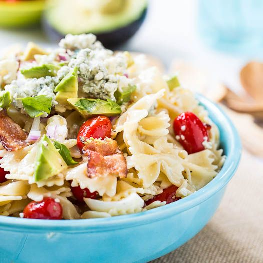 Cobb pasta salad. Add cucumbers and some cheddar too. Maybe dress with ...