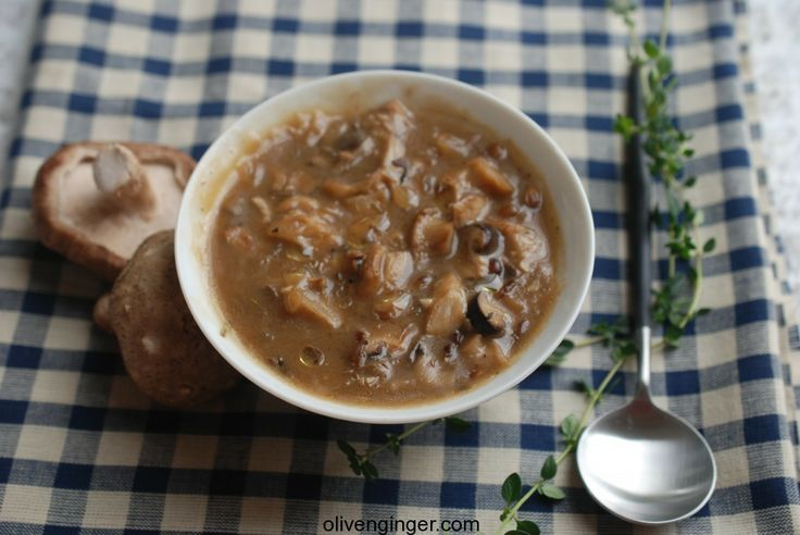 mushroom/barley soup | food | Pinterest