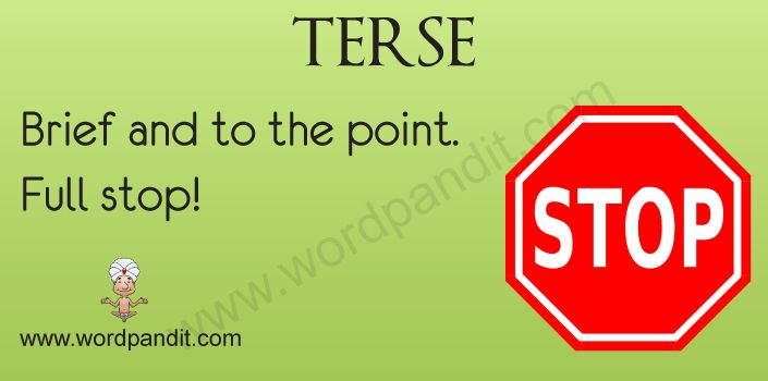 Terse definition | Expanding My Vocabulary | Pinterest