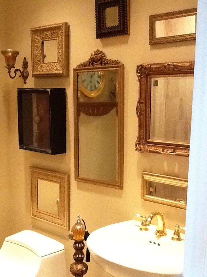 Powder Room Mirror Grouping Decor Pinterest