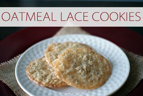 Oatmeal Lace Cookies | Lookin' Good -- Cookies & Sweets | Pinterest