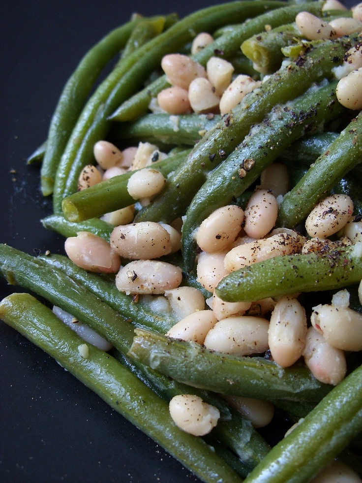 ... & Green Beans (a healthier deconstructed vegan green bean casserole